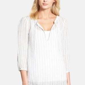 Eileen Fisher Striped Linen Top